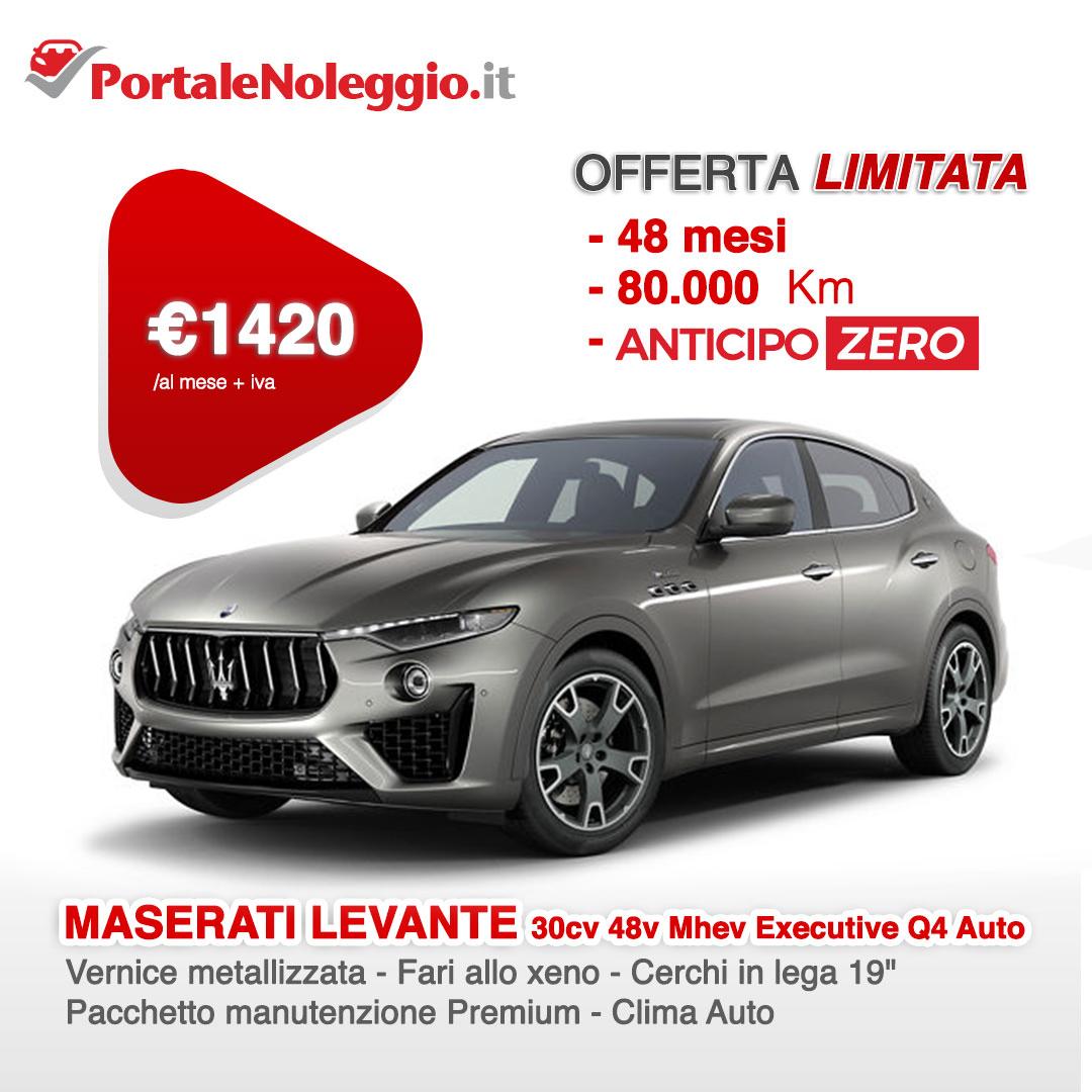 Noleggio lungo termine promo senza anticipo Maserati levante