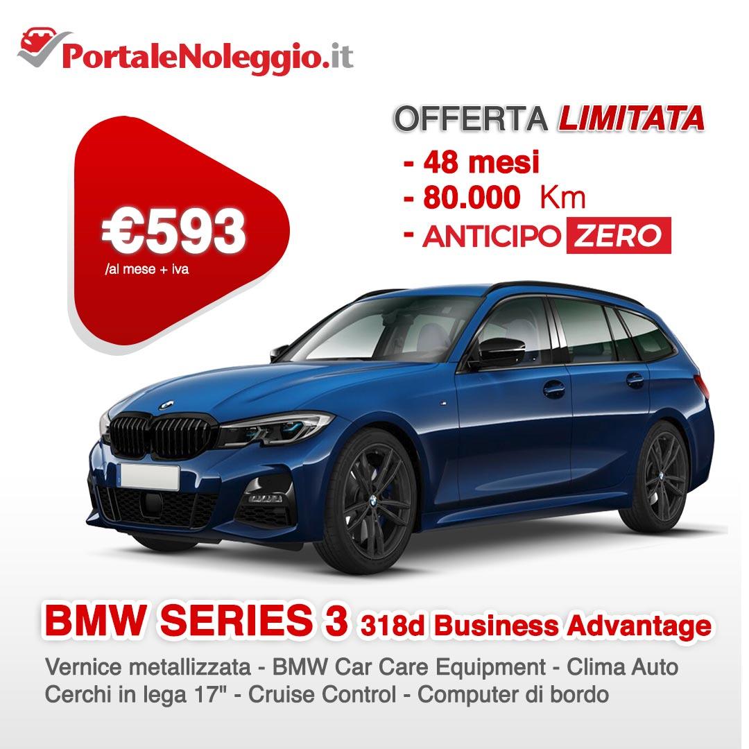 Noleggio lungo termine senza anticipo BMW Serie 3