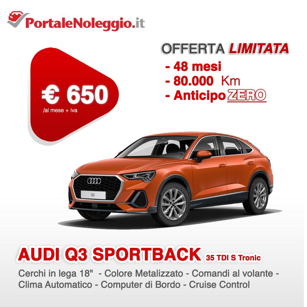 Offerta Audi Q3 Sportback Noleggio lungo termine