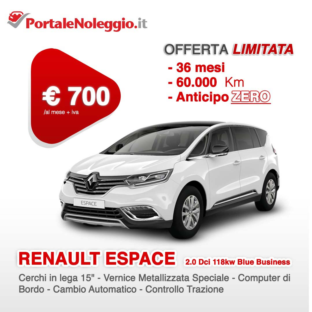 Renault Espace noleggio a lungo termine