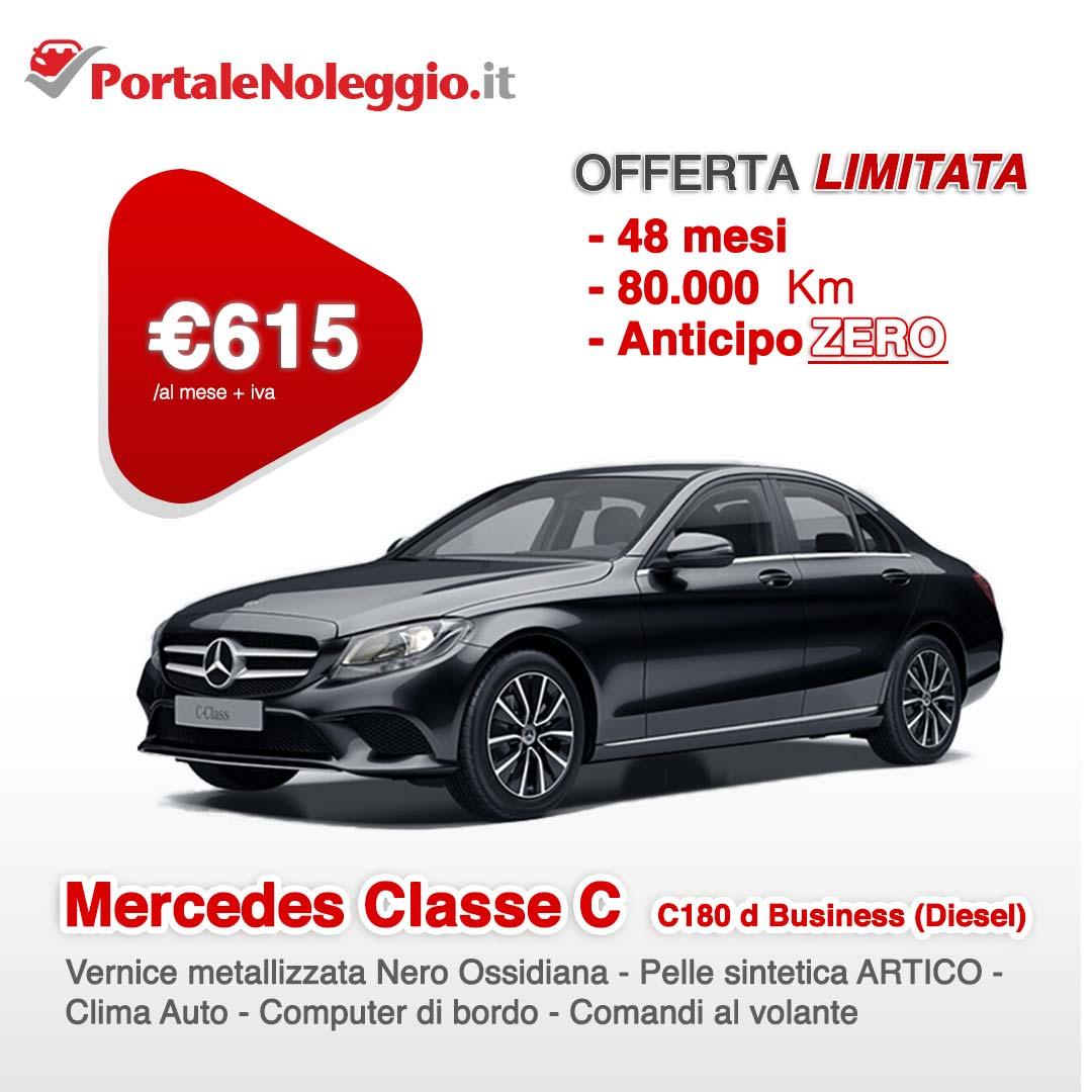 Mercedes Classe C C180 d Business (Diesel) noleggio a lungo termine