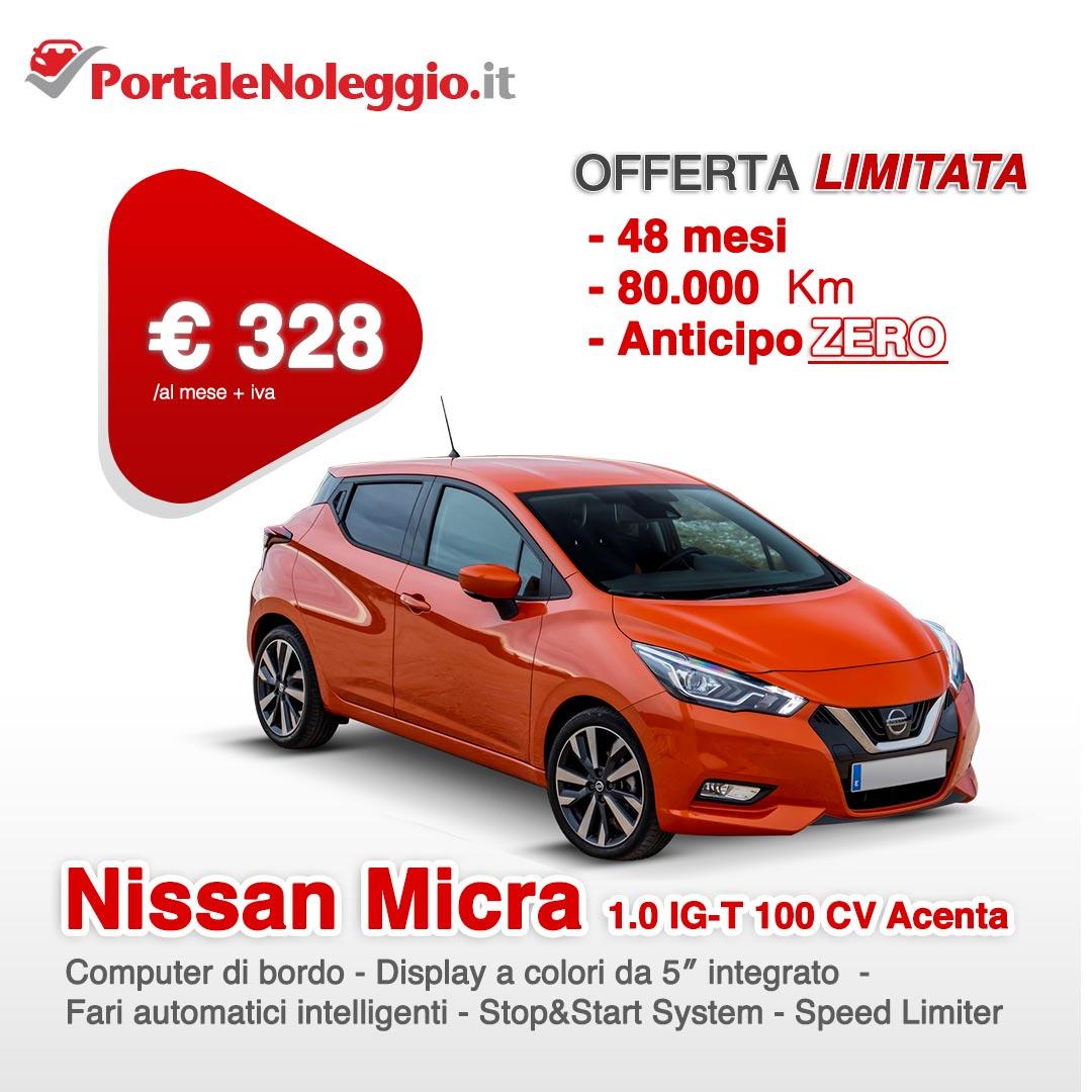 Noleggio a lungo termine Nissan Micra