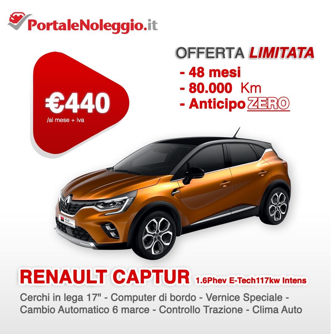 Renault Captur hybrid noleggio lungo termine