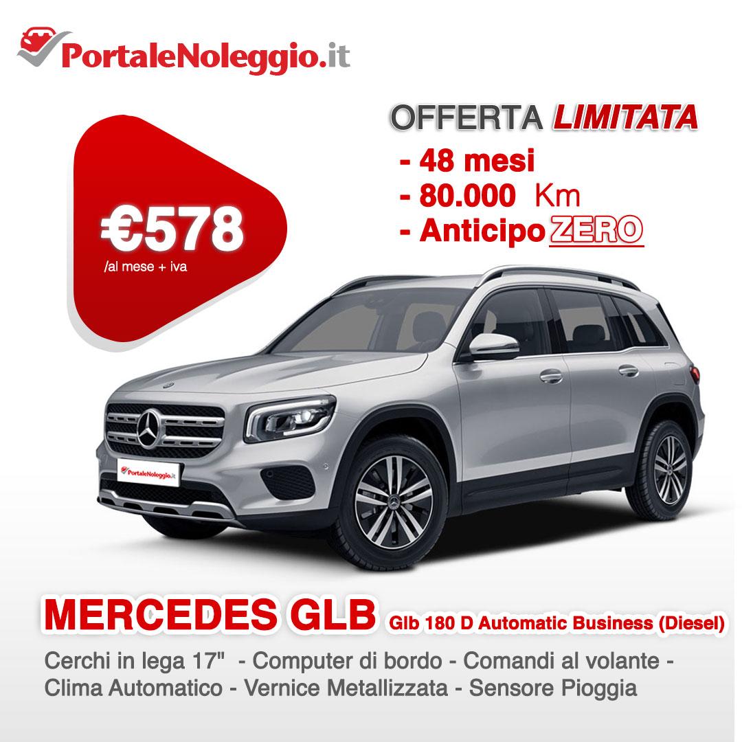 MERCEDES GLB Glb 180 D Automatic Business (Diesel) noleggio lungo termine