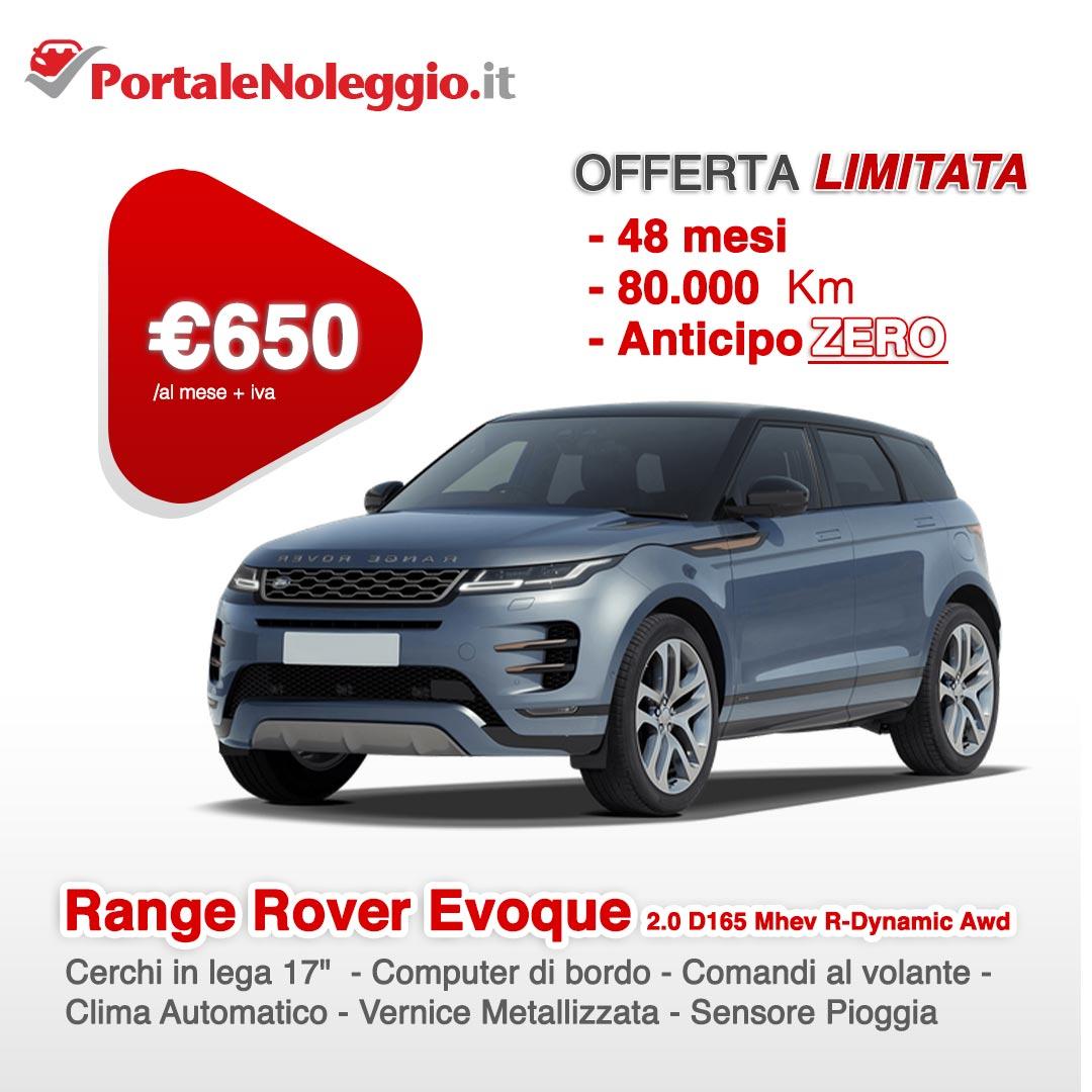 Range Rover Evoque noleggio a lungo termine