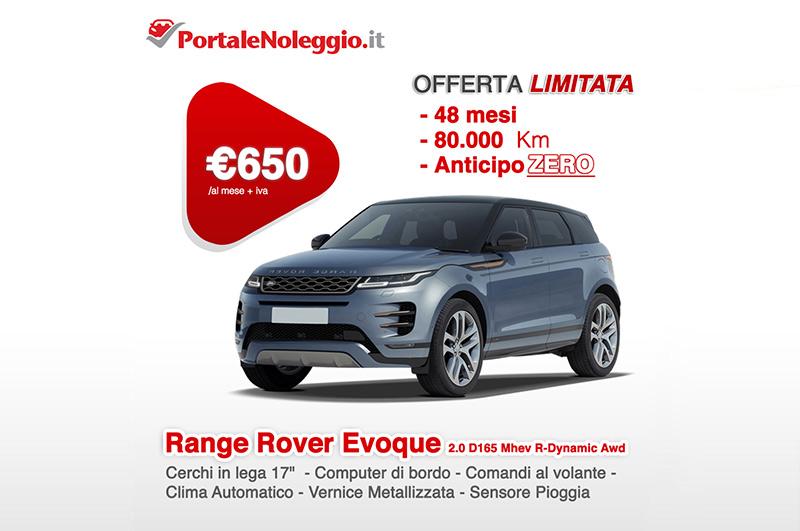 Range Rover Evoque noleggio lungo termine