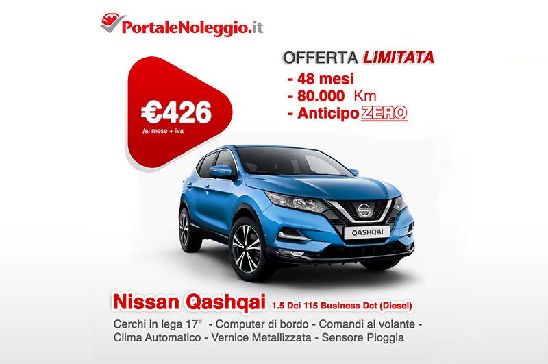 Nissan Qashai noleggio a lungo termine