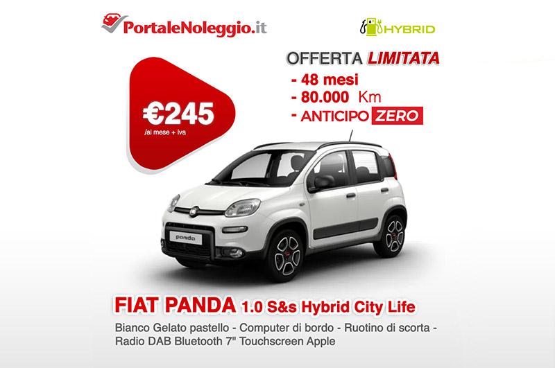 FIAT PANDA 1.0 70cv S&s Hybrid City Life Noleggio lungo termine